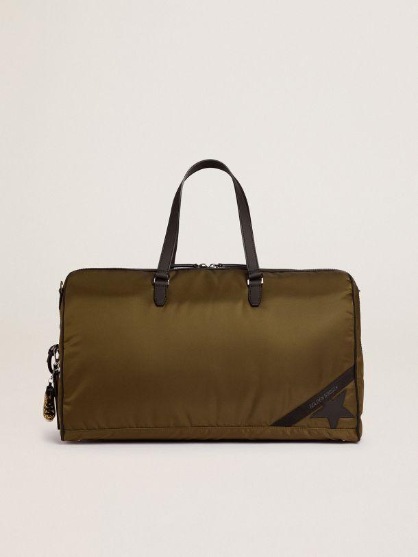 Golden Goose - Journey Duffle Bag in military-green nylon in