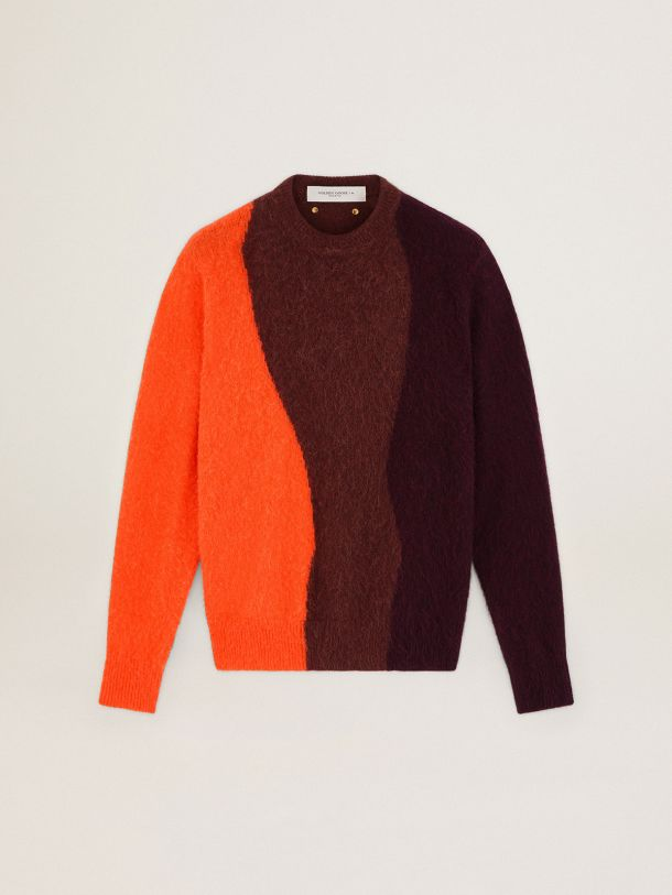 Three-color wool Journey Collection Donnel sweater