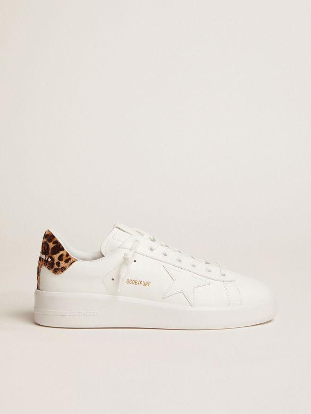 Golden Goose - Sneakers PURESTAR mujer con refuerzo del talón efecto leopardo in