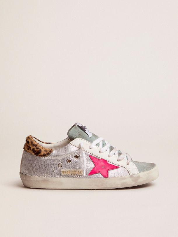 Golden Goose - Super-Star sneakers with sequins and leopard-print heel tab in