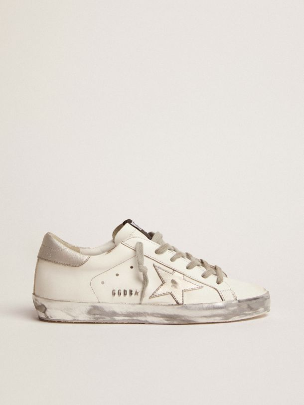 Golden Goose - Super-Star sneakers with silver sparkle foxing and metal stud lettering in