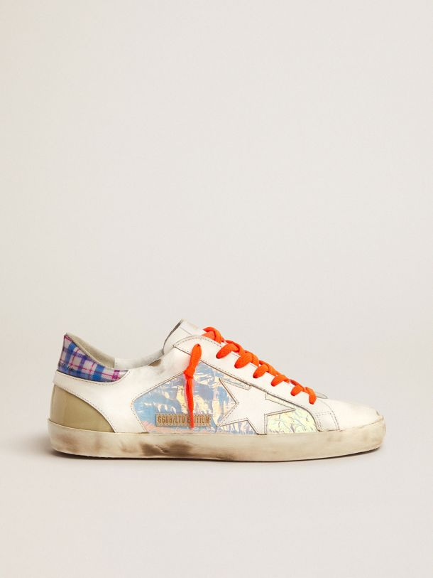 Golden Goose - Men's Limited Edition LAB Super-Star sneakers with holographic and tartan upper in