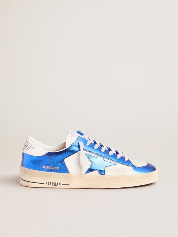 Golden Goose - Sneakers Stardan blu e bianche in