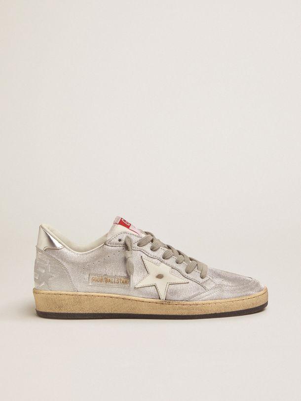 Golden Goose - Sneakers Ball Star LTD en cuir argenté in