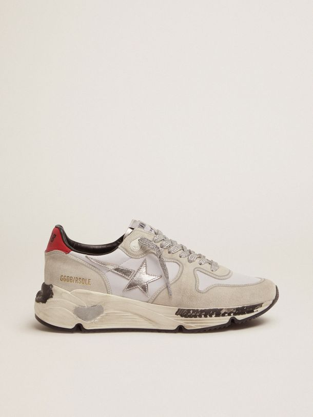Golden Goose - Running Sole sneakers with red heel tab and silver star in
