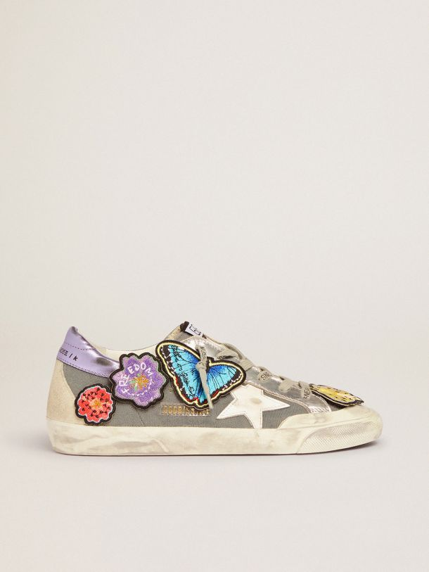 Golden Goose - Super-Star Penstar LAB sneakers with Velcro upper and appliquéd patches in