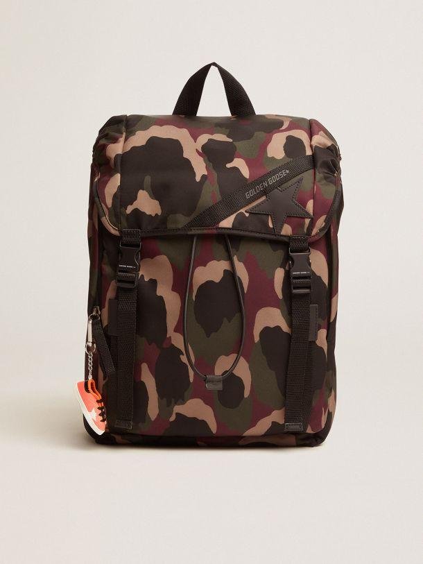 Golden Goose - Camouflage nylon Journey backpack in