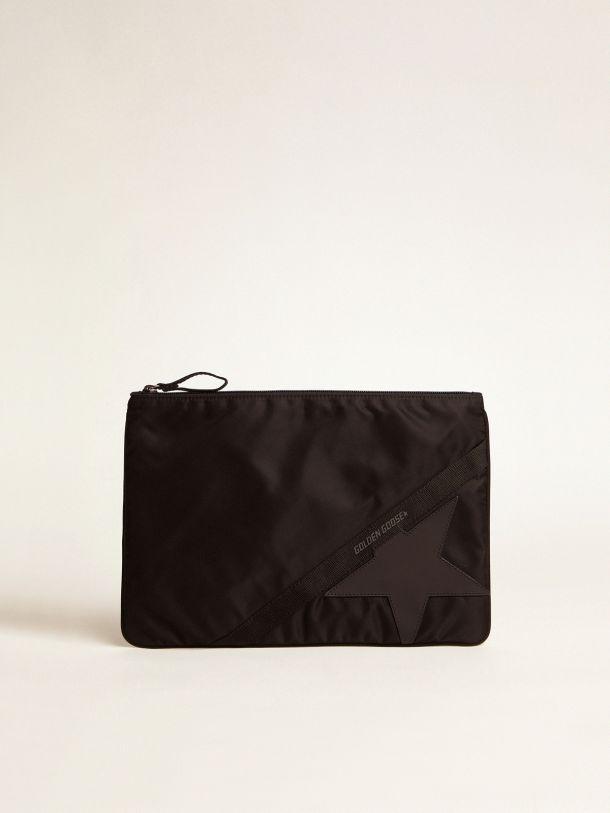 Golden Goose - Large black nylon Journey pouch in