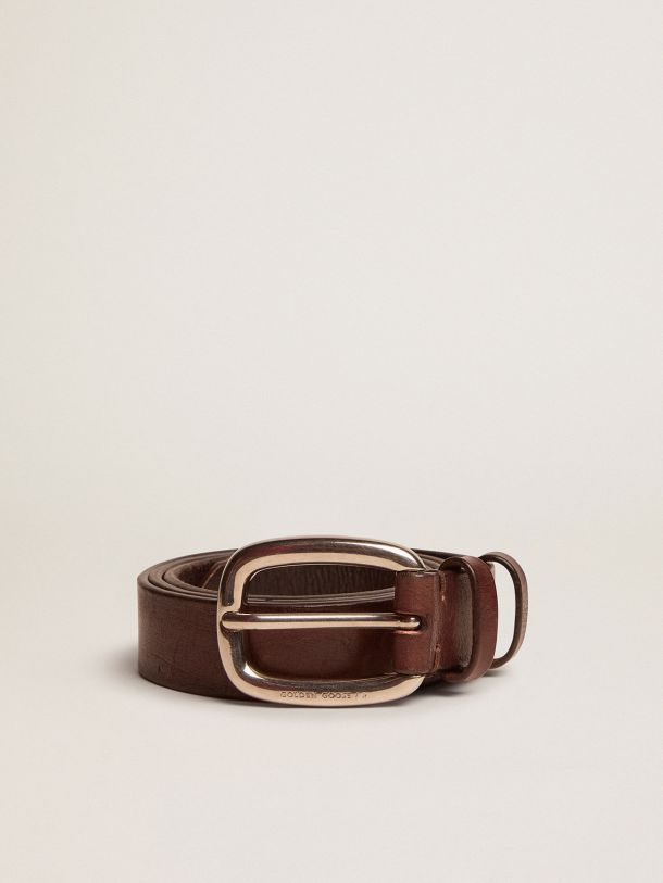 Brown Houston belt in washed leather