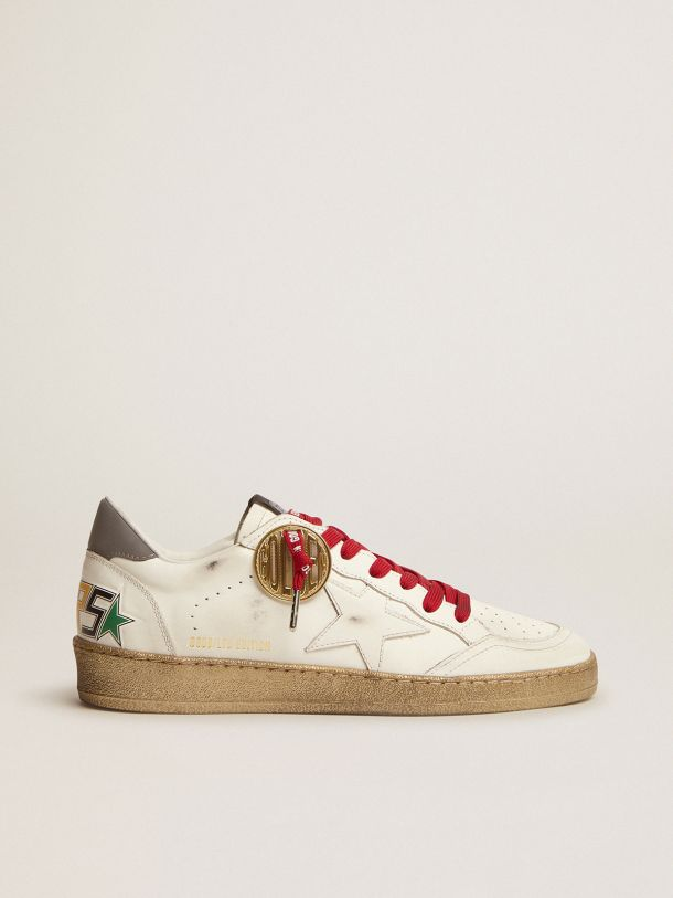 Ball Star Game EDT Capsule Collection sneakers in white leather with multicolored lettering