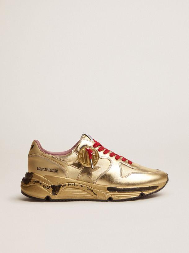 Golden Goose - Sneaker Running Sole Game EDT Capsule Collection in lurex dorato in