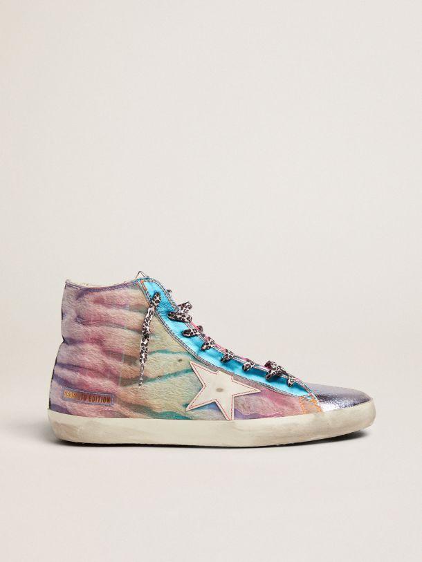Golden Goose - Women's LAB Limited Edition zebra-print pony skin Francy sneakers in