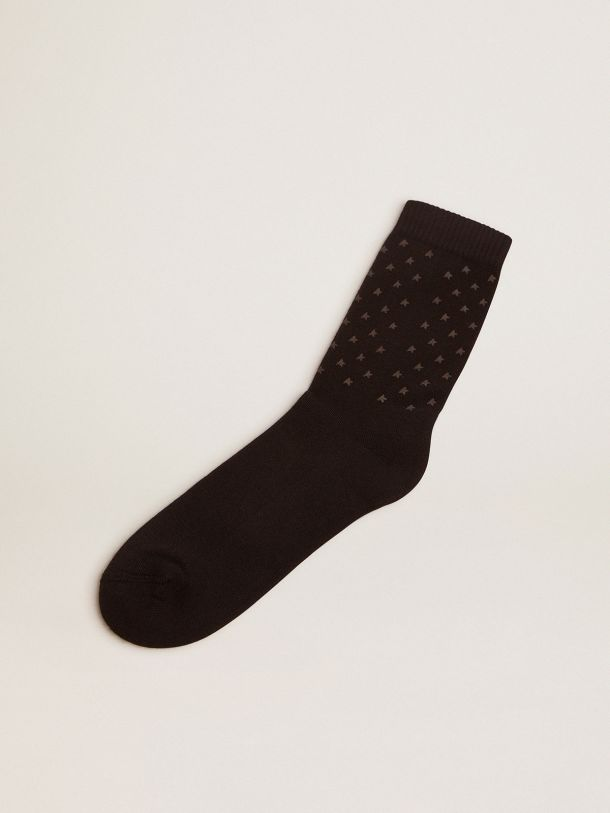 Black Star Collection socks with contrasting 3D stars and logo