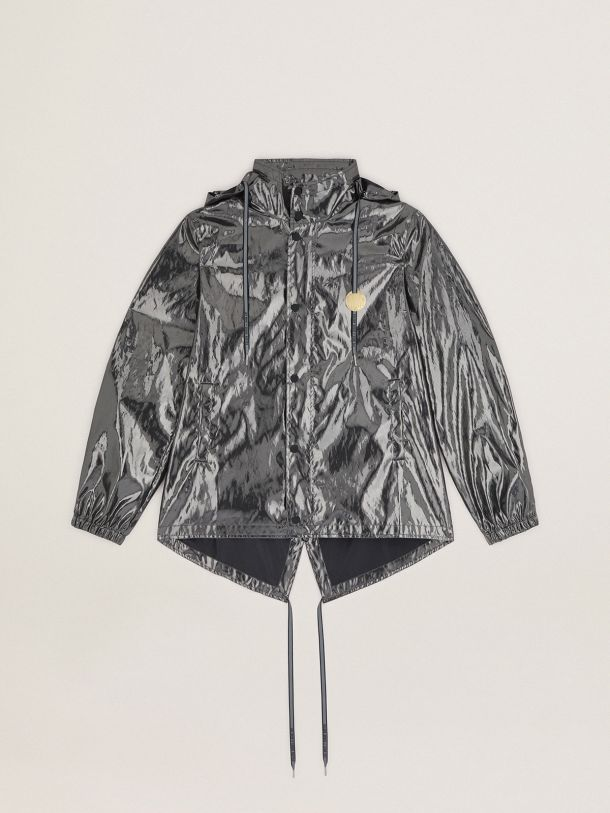 Golden Goose - Giacca a vento Game EDT Capsule Collection color argento scuro in