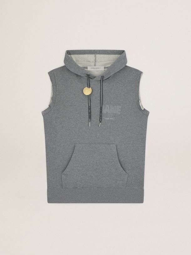 Golden Goose - Game EDT Capsule Collection sleeveless sweatshirt in gray melange color in