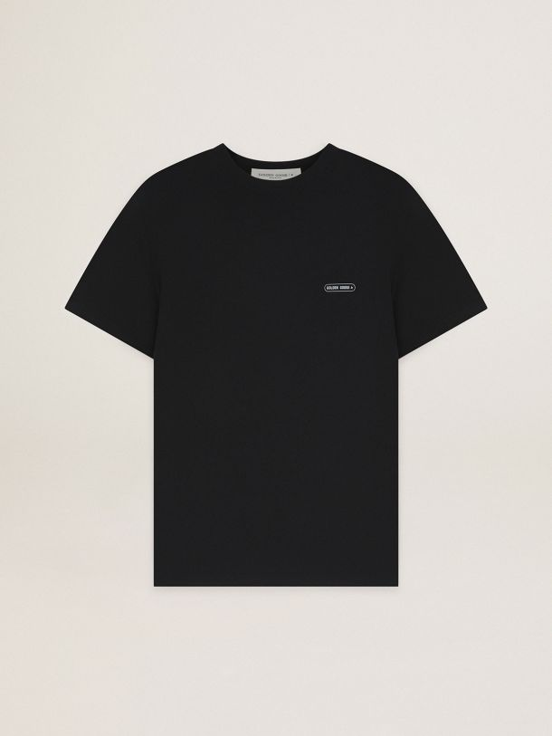 Golden Goose - Black T-shirt Game EDT Capsule Collection with contrasting logo in