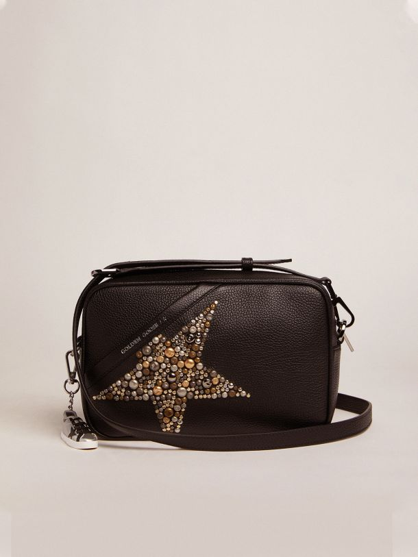 Golden Goose - Black Star Bag made of hammered leather with studded star in