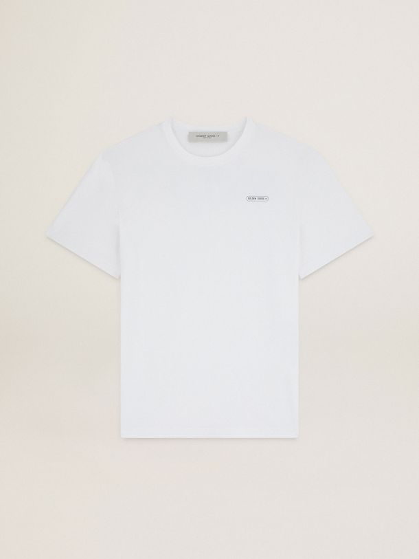 Golden Goose - White T-shirt Game EDT Capsule Collection with contrasting logo in