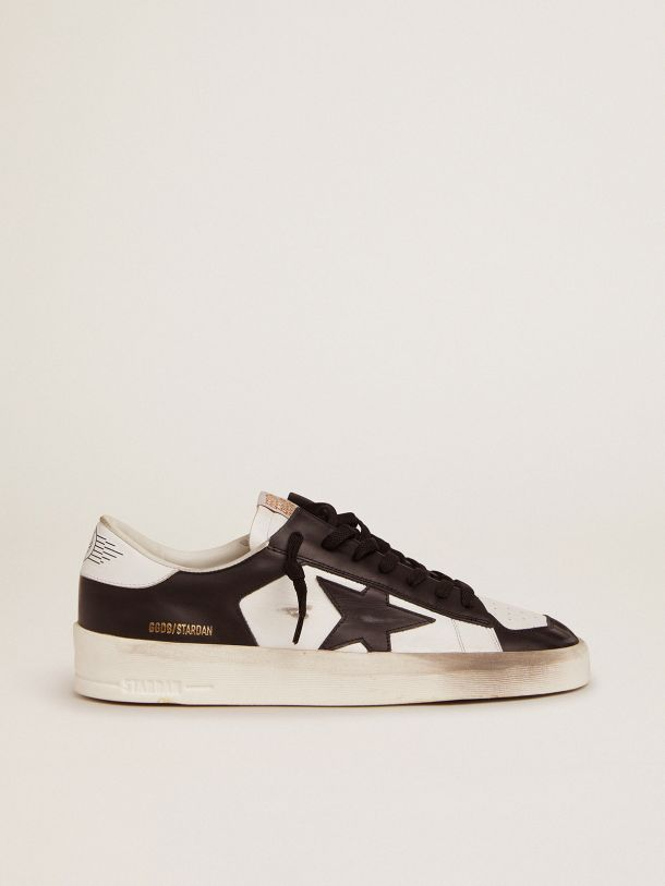 Golden Goose - Stardan sneakers in black and white leather in