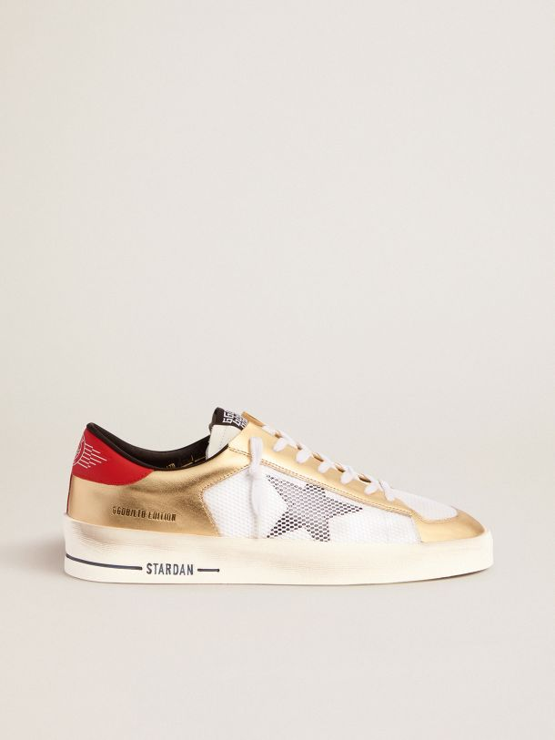 Golden Goose - Women's Limited Edition Stardan sneakers with gold inserts in