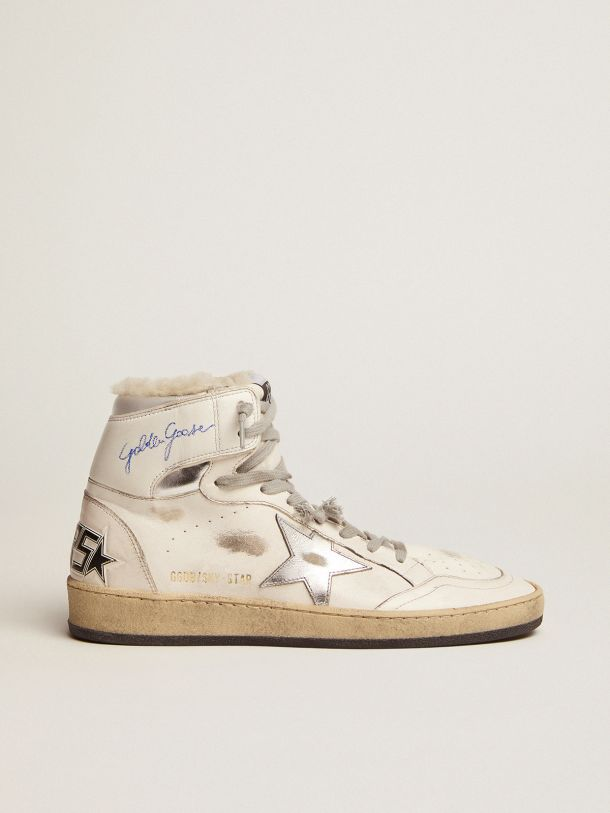 Golden Goose - Sky-Star sneakers with signature on the ankle and shearling lining in