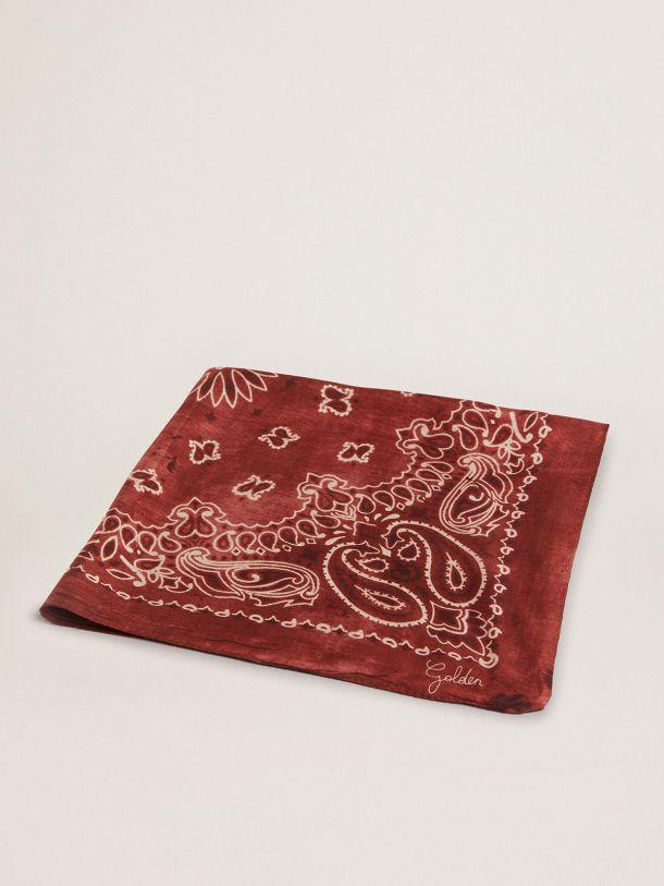 Goldenコレクション スカーフ(ボルドー) ペイズリー柄