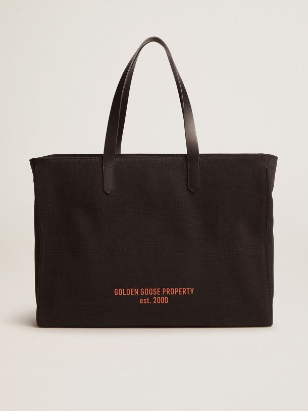 Golden Goose - East-West California Bag in black canvas in