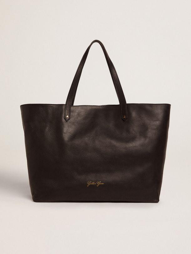Golden Goose - Pasadena Bag(ブラック) フロントロゴ(ゴールド) in