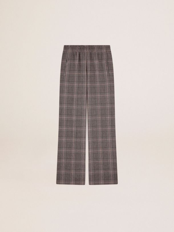 Golden Goose - Golden Collection jogging pants in gray and white Prince of Wales check in