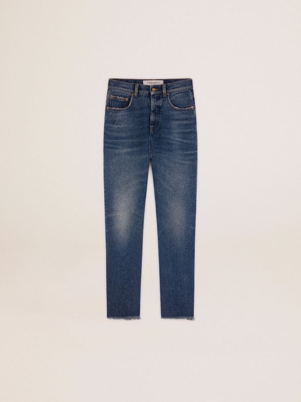 Golden Goose - Golden Collection cropped flared jeans with a medium wash in