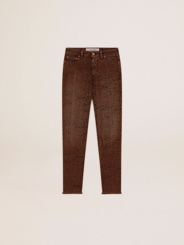 Golden Goose - Golden Collection skinny jeans with animal print in