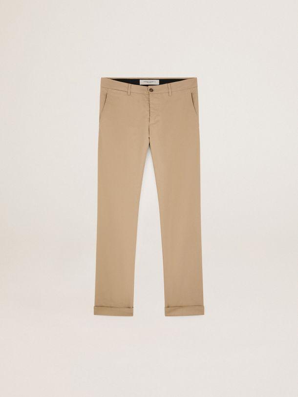 Golden Goose - Pantalón chino de la colección Golden en algodón beige in