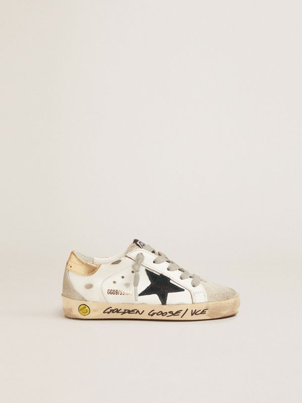 Golden Goose - Super-Star sneakers with gold heel tab and handwritten lettering in