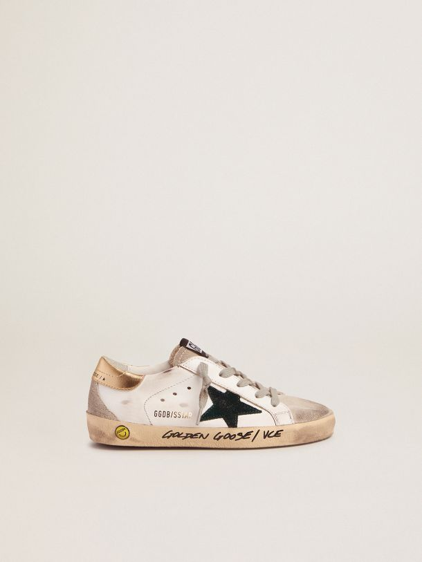 Sneakers Super-Star avec contrefort doré et inscription réalisée à la main