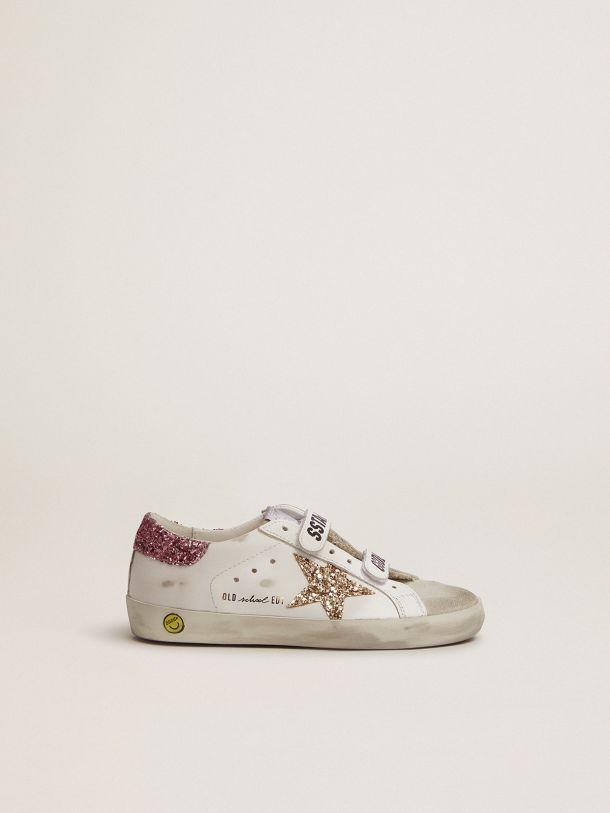 Golden Goose - Sneaker Old School con chiusura a strappo e dettagli glitter in