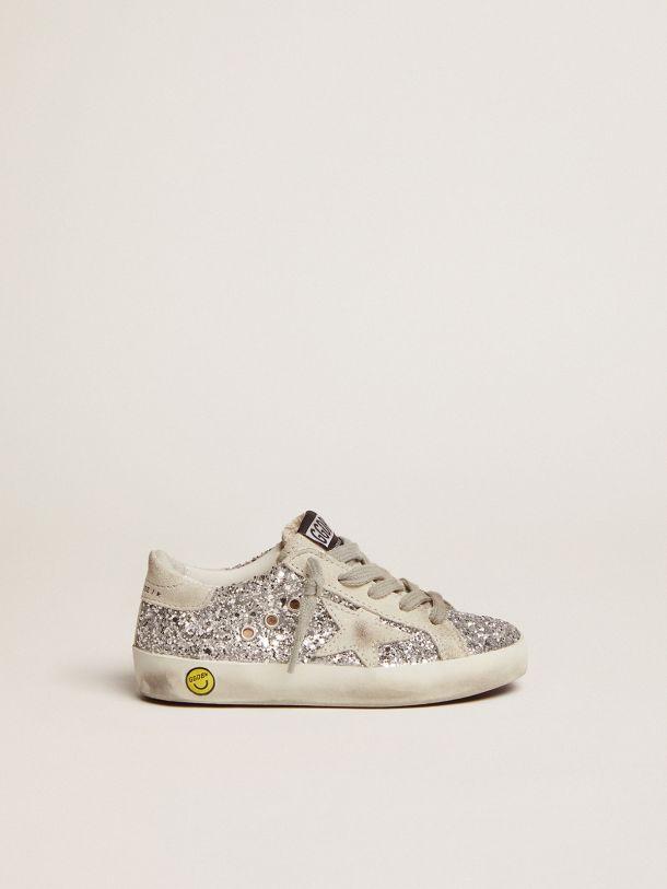 Golden Goose - Sneakers Superstar con glitter argentati in