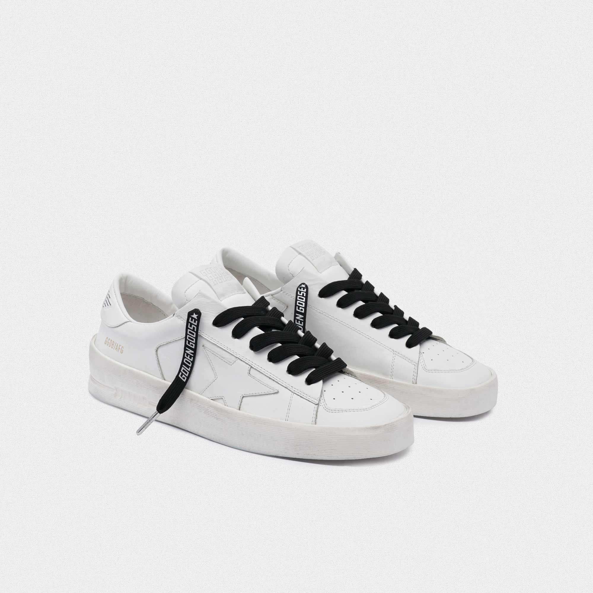 Golden Goose - Women's black laces with reflective logo in