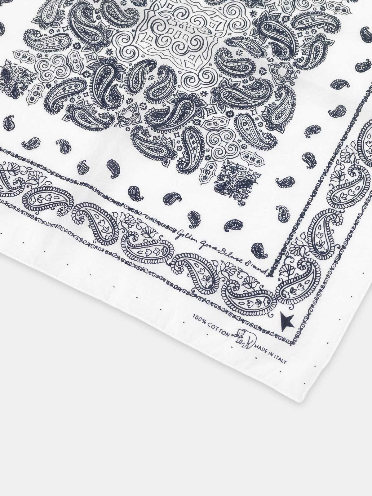 Golden Goose - Cotton Jiro bandana with paisley pattern in