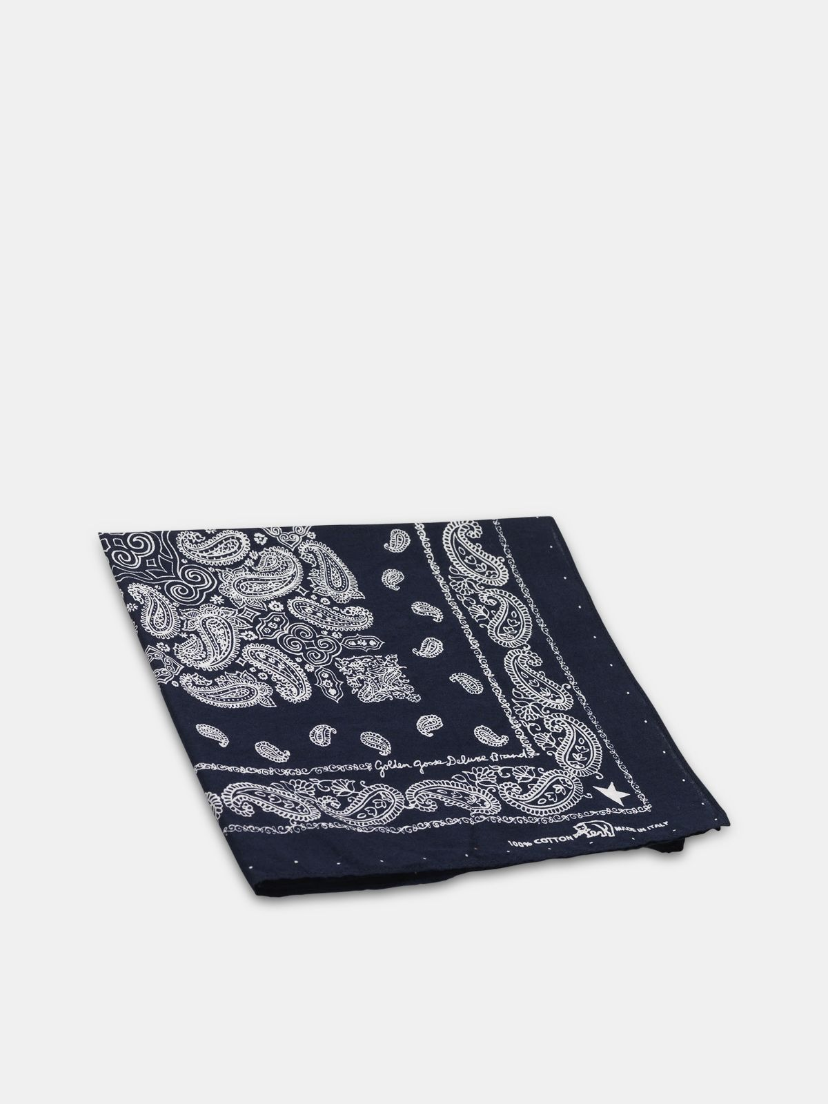 Golden Goose - Cotton Jiro bandana with paisley pattern in