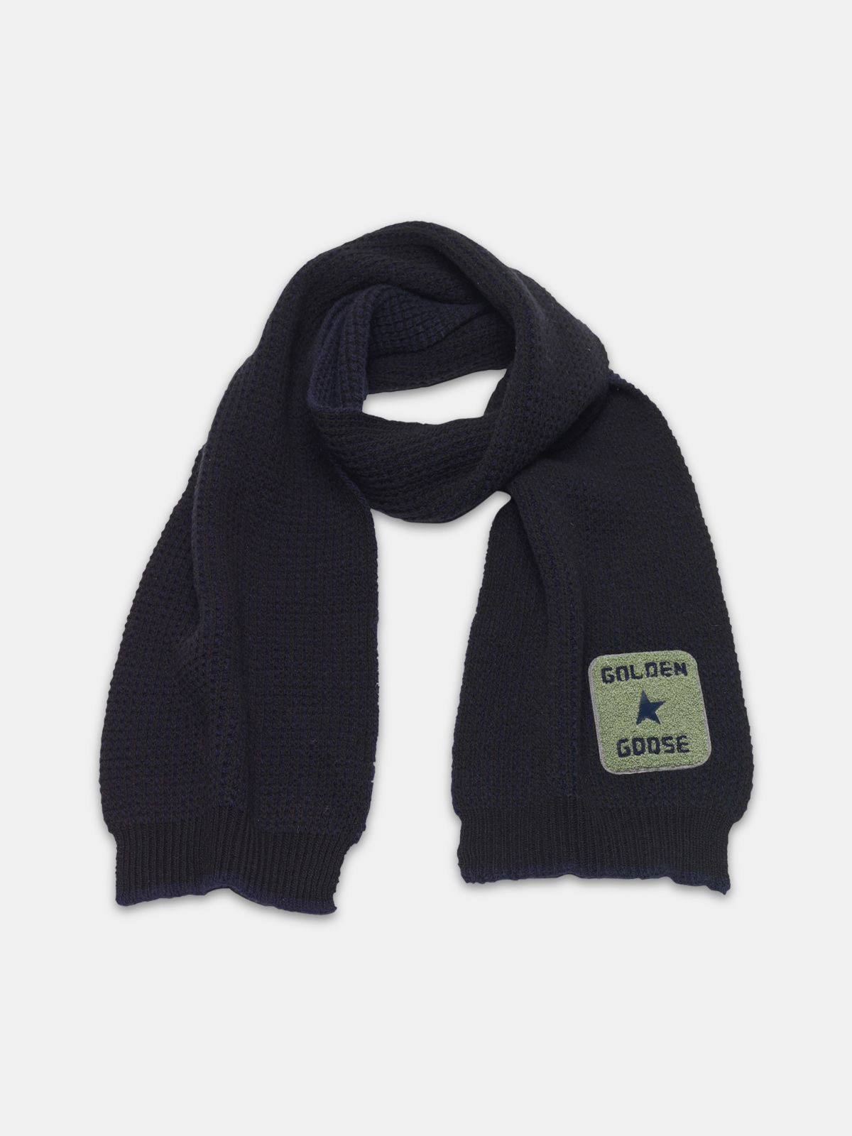 Golden Goose - Kei scarf made of extra fine merino wool in