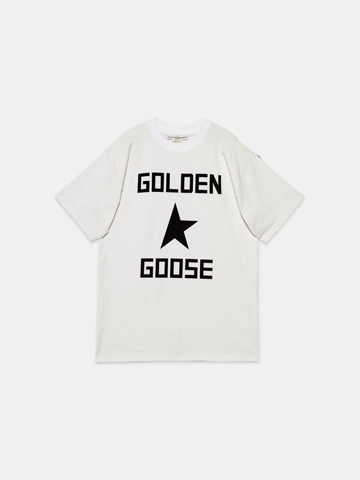 Golden Goose - T-shirt Ryo in puro cotone con stampa logo in