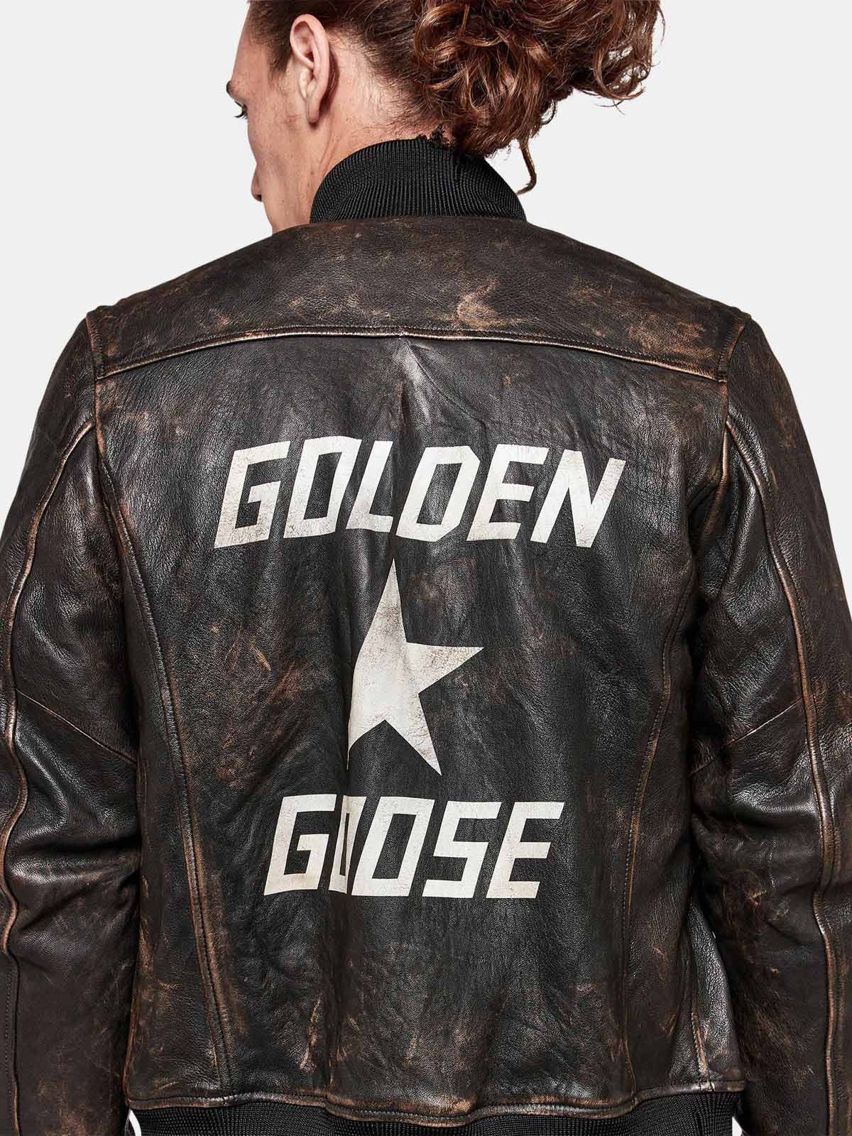 Golden Goose - Sadao bomber jacket with maxi print on the back in