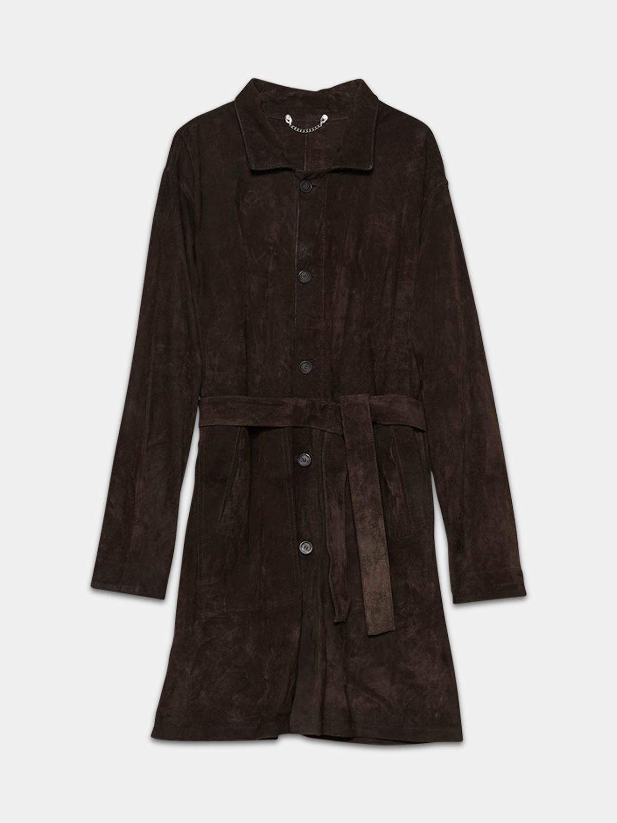 Golden Goose - Tadashi coat in brushed suede leather in