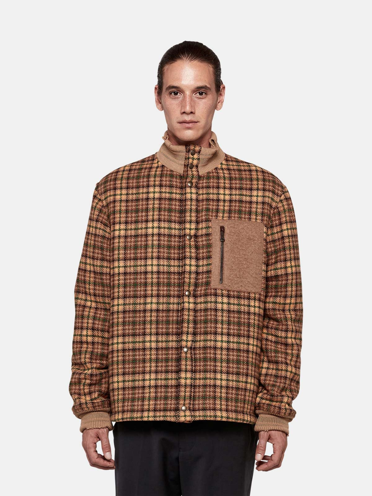 Golden Goose - Haru bomber jacket in tweed with patch pocket in