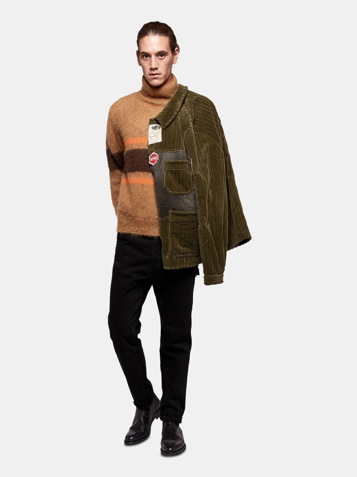 Golden Goose - Taro jacket in corduroy velvet with decorative labels in