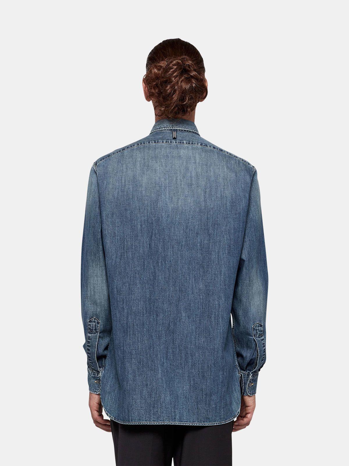Golden Goose - Kei shirt in cotton denim in