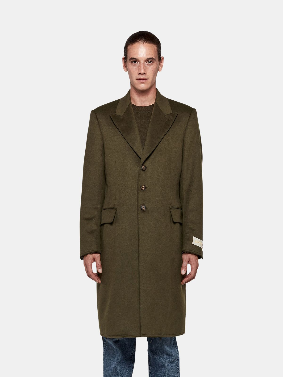 Golden Goose - Yoshio coat in wool blend with classic lapels in