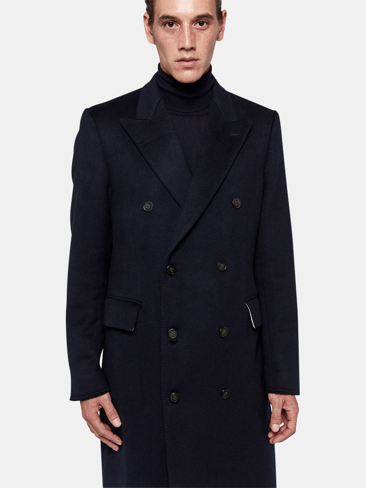 Golden Goose - Yukio double-breasted coat in wool blend  in