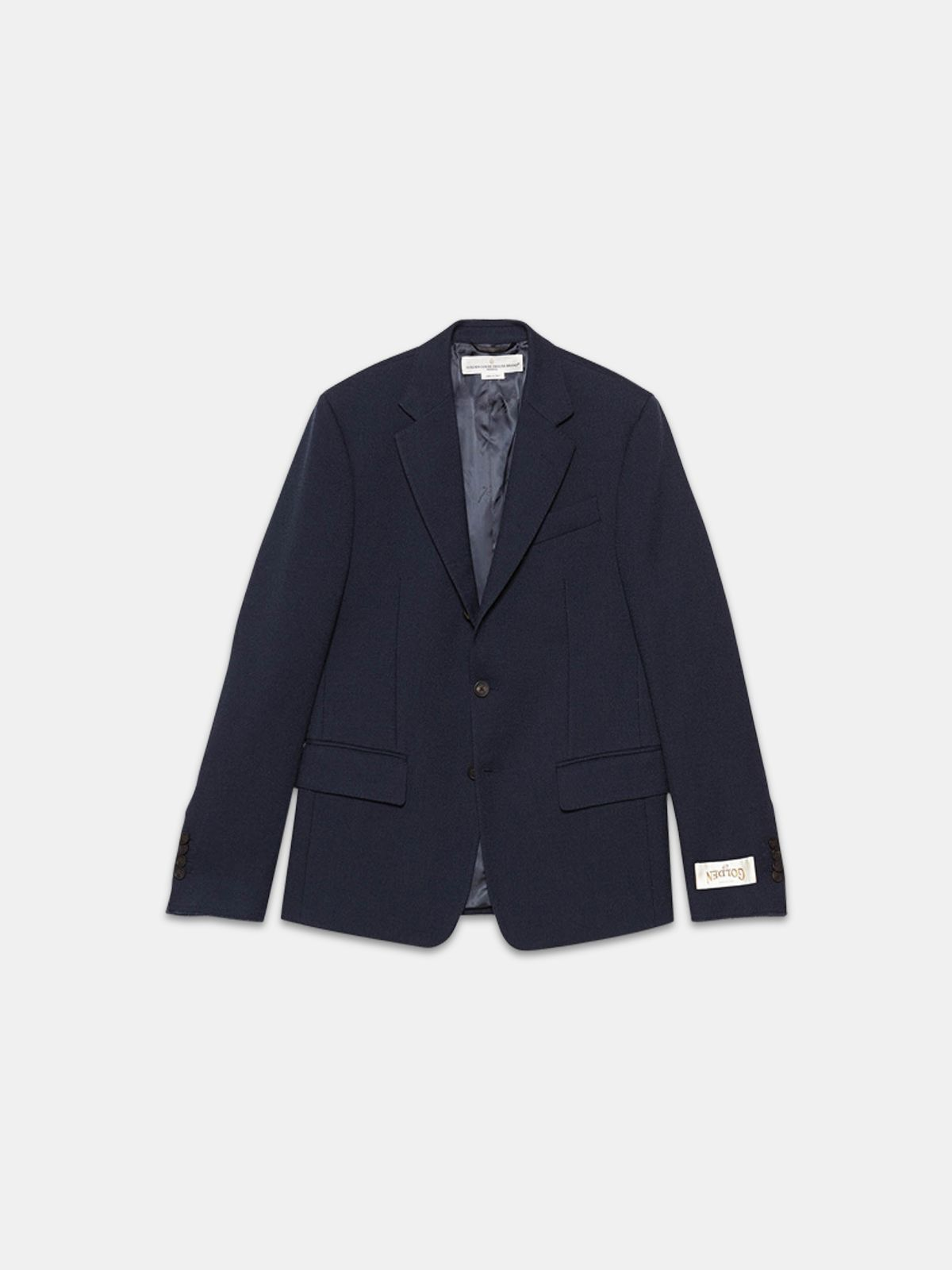 Golden Goose - Venice single-breasted jacket in wool crêpe in
