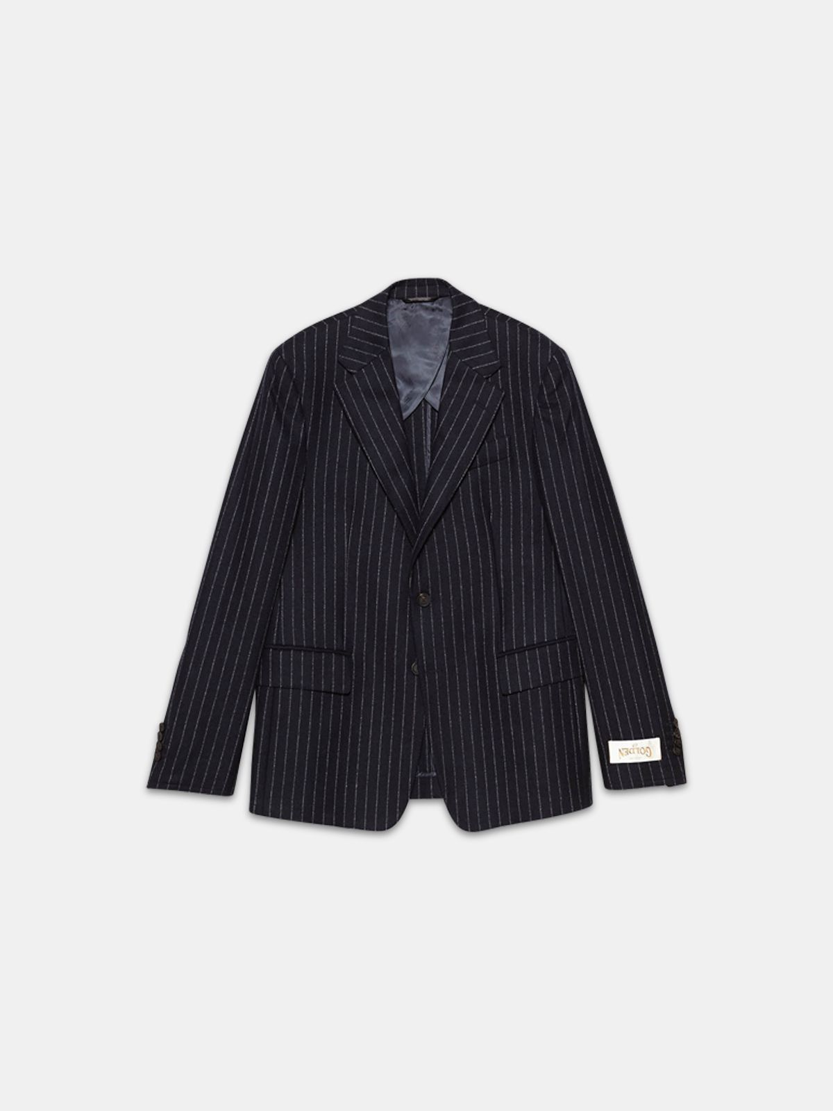 Golden Goose - Venice single-breasted jacket with pin striped pattern in